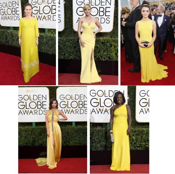 Natalie Portman (Prada), Reese Witherspoon (Versace), Maisie Williams (Ong Oaj Pairam), Emily Ratajkowski (Reem Acra), Viola Davis (Michael Kors)