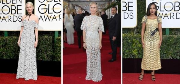 Michelle Williams (Louis Vuitton), Kristen Wiig (Reem Acra), Kerry Washington (Dolce & Gabbana)