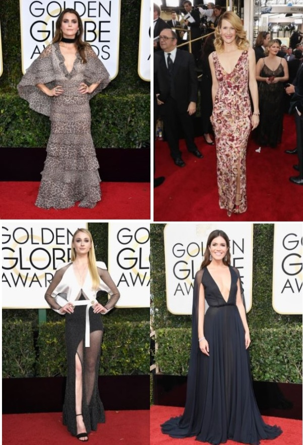 Keri Russell (J. Mendel), Laura Dern (Burberry), Sophie Turner (Louis Vuitton), Mandy Moore  (Naeem Khan)